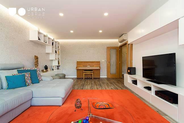 Remodelação de Apartamento Urban Obras | vista da sala