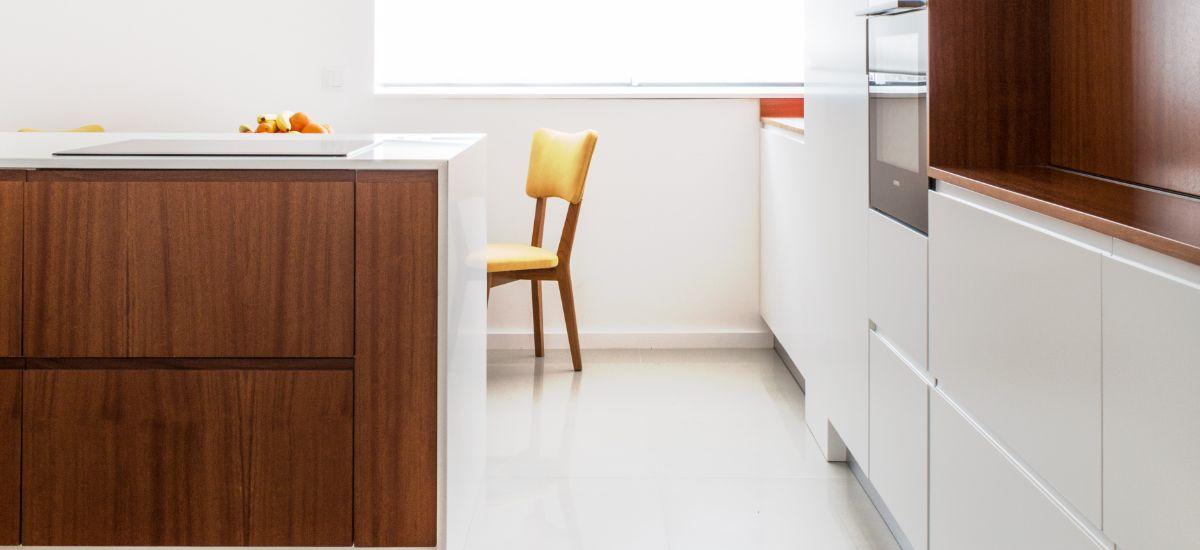 Remodelação Total de Apartamento - Espaço da Cozinha