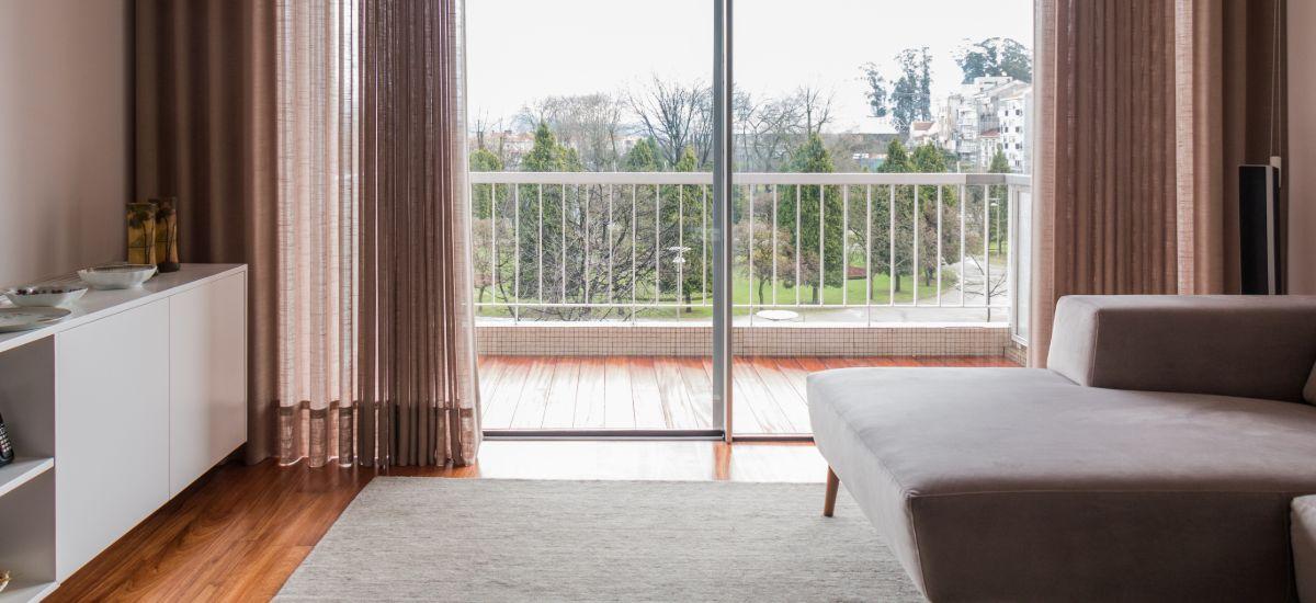 Remodelação Total de Apartamento - Sala com Vista para o Exterior