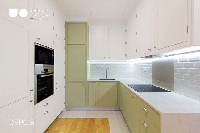 cozinha em remodelação total Urban Obras