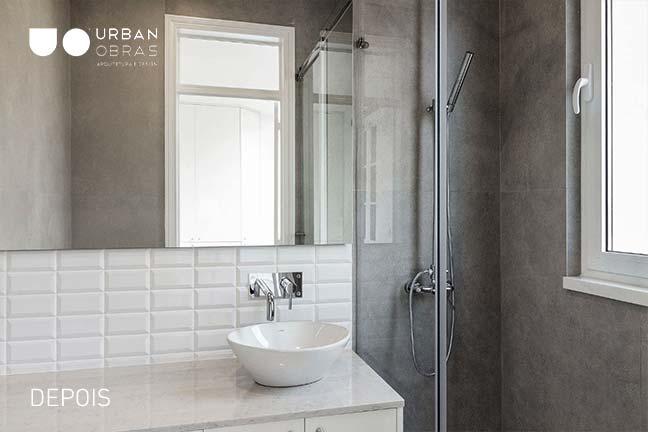 casa de banho moderna em remodelação total Urban Obras