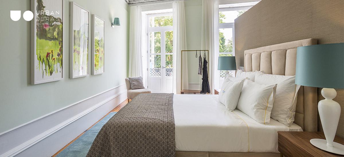 decoração de interiores, projeto de decoração de quarto, quarto de casal moderno, decoração Urban Obras