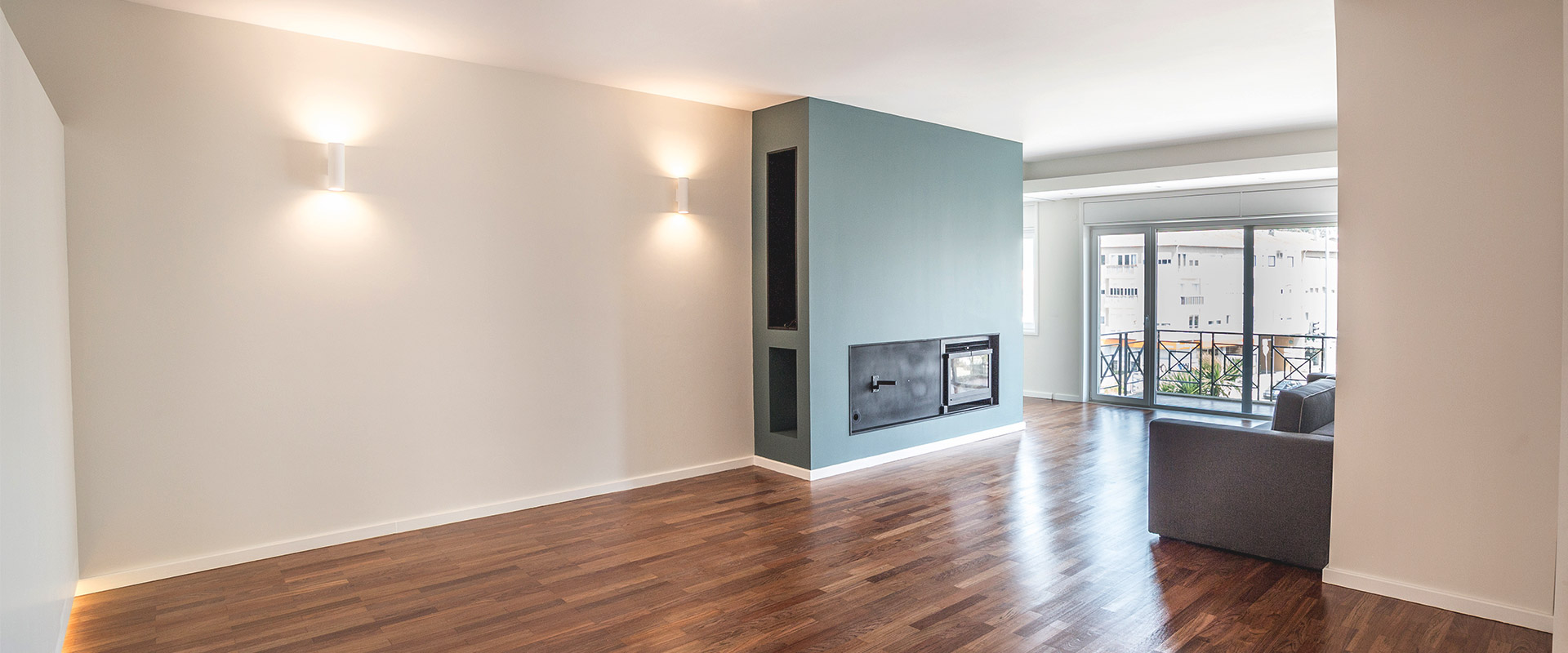 Sala- Remodelação de apartamento Poto