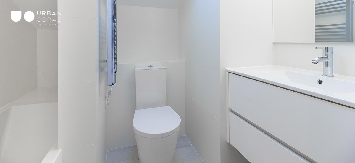 casa de banho depois de remodelação, casa de banho clean branco almada
