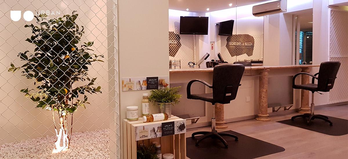remodelação de salão de cabeleireiro, obras em loja