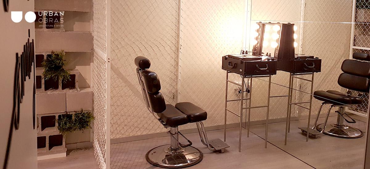 remodelação de espaço de beleza, modernização de cabeleireiro, remodelação de espaço comercial
