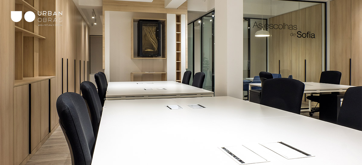 remodelação de escritório, mobiliário à medida escritório Barcelos