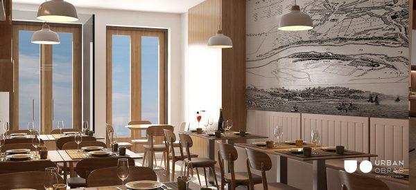 remodelação de restaurante, decoração de sala de jantar, projeto de arquitetura para espaço comercial