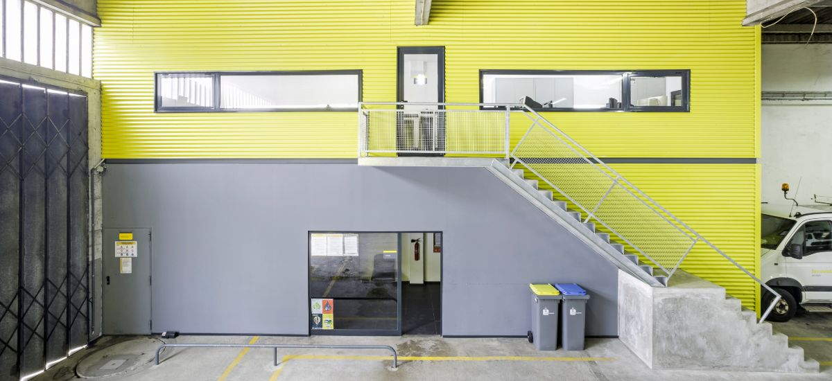 Projeto Construção Balneários FERROVIAL - Vista Exterior Escritório