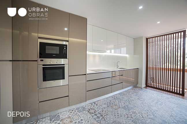 cozinha, reabilitacao de apartamento
