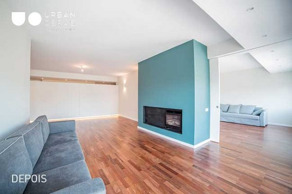 sala, reabilitacao de apartamento