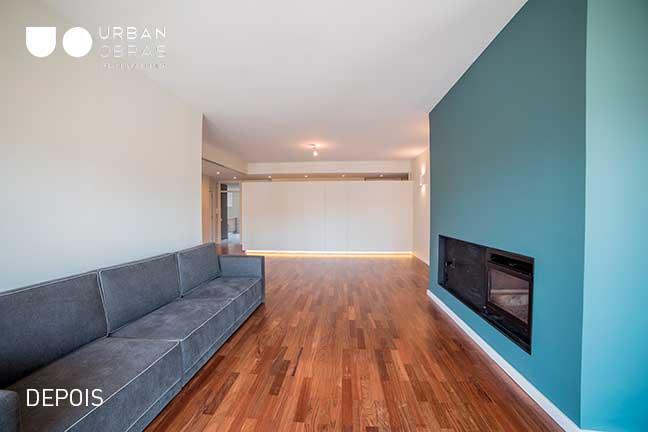 sala, reabilitação de apartamento