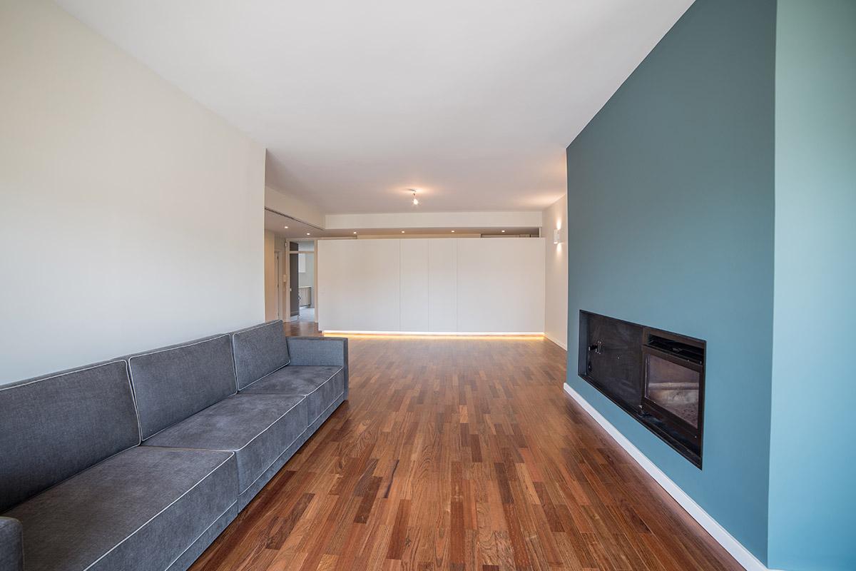 Remodelação total de apartamento Porto, reabilitação de casa, sala renovada