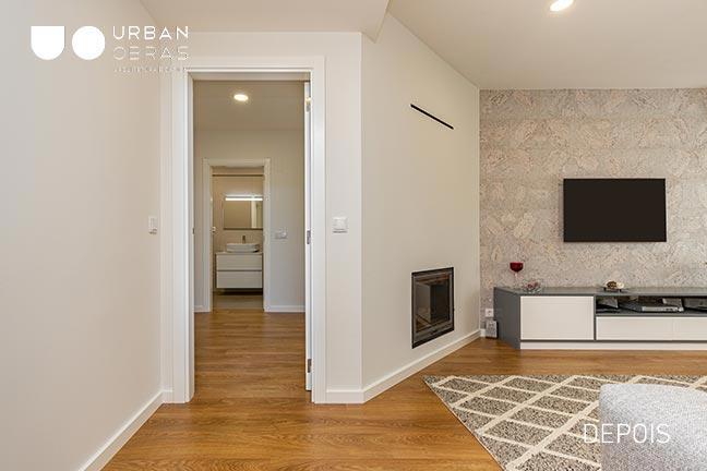 sala, remodelacao de apartamento