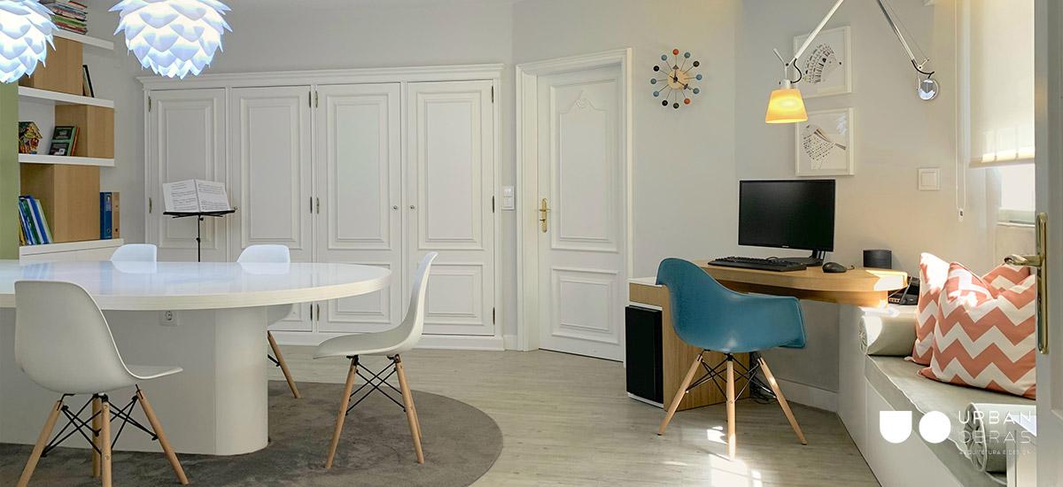 quarto remodelado, obras de casa, remodelação de quarto com escritório