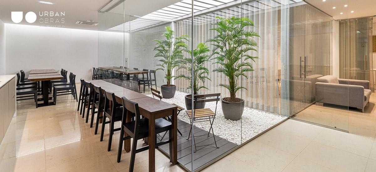 Remodelaçã de empresa, espaço de lazer em escritório, remodelação de copa