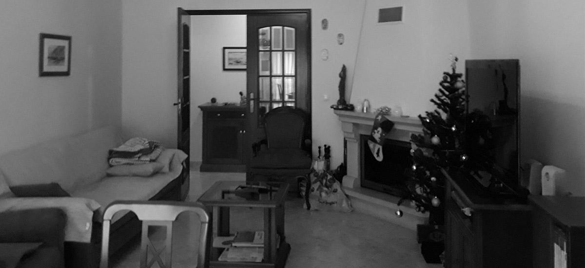 sala de apartamento antes da renovação