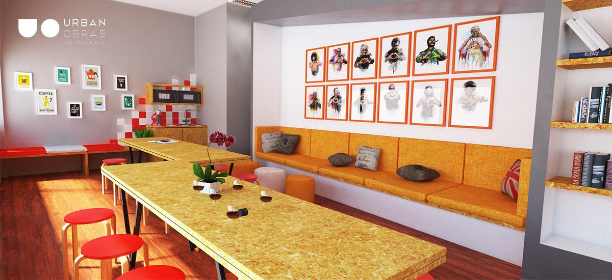 remodelação de escritório, decoração de espaços de trabalho, mobiliário à medida para escritório