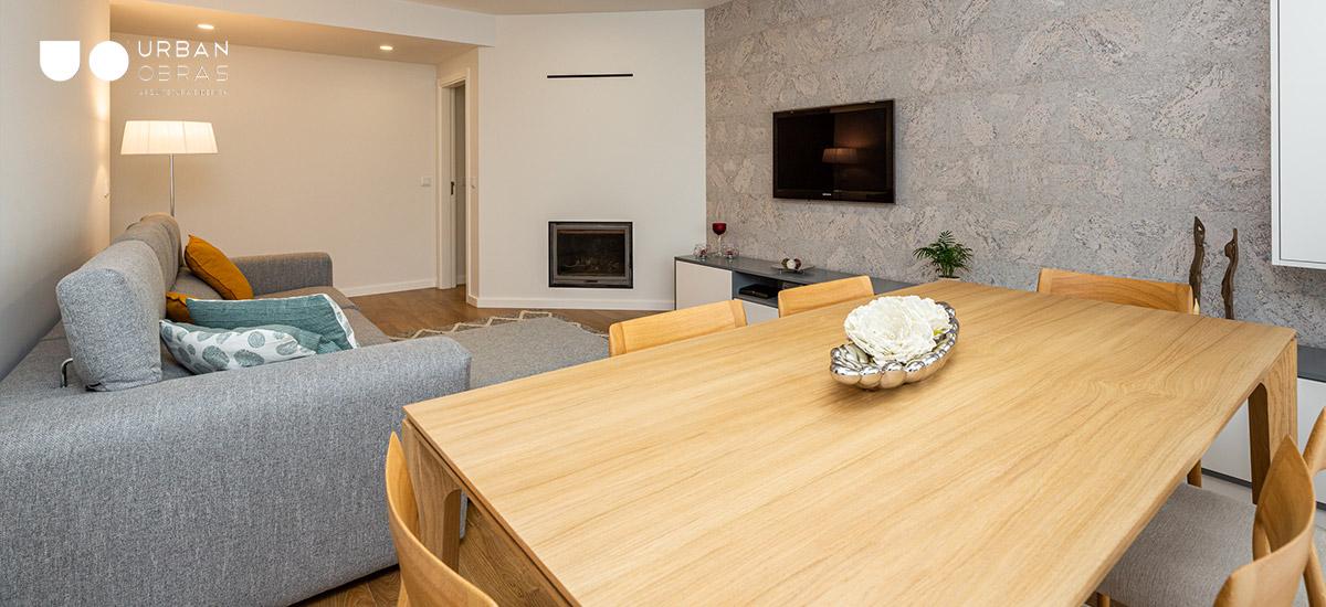 Remodelação de apartamento Guimarães, remodelações Urban Obras, reabilitação de apartamento, remodelações de casa, obras de casa, decoração, remodelação de sala, sala moderna, decoração de sala, design de interiores