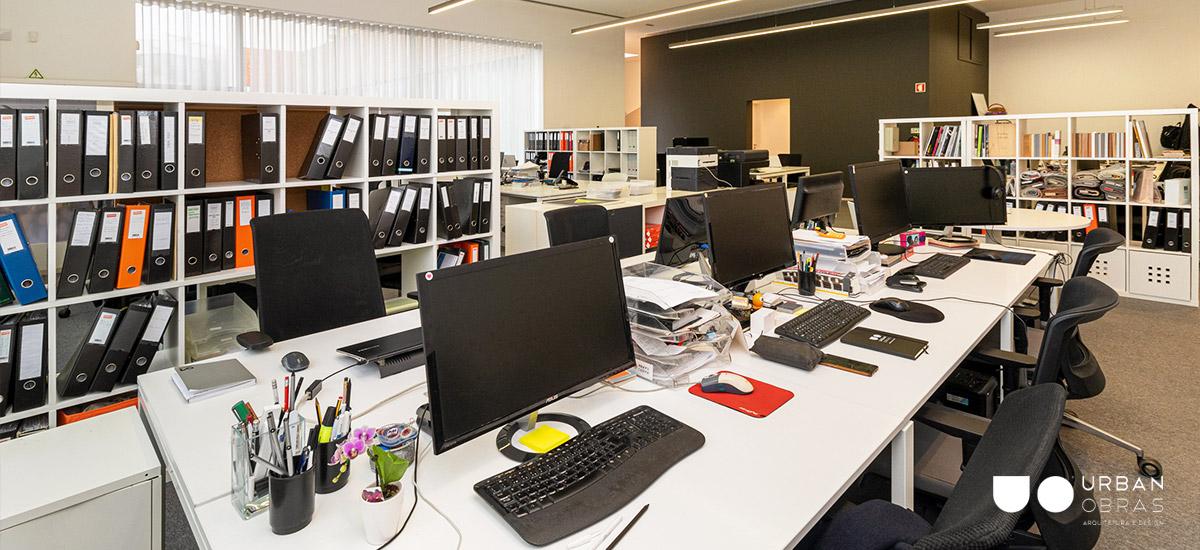 Remodelação escritório Nbrand - vista do workspace