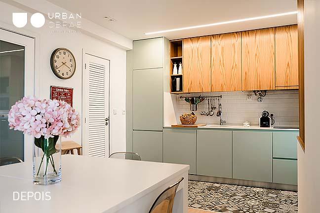 cozinha, remodelacao integral de apartamento
