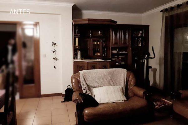 sala, remodelacao integral de apartamento