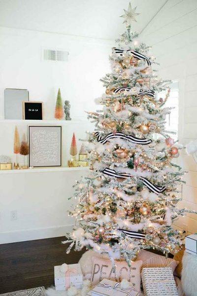 arvore de natal, decoração de natal moderna