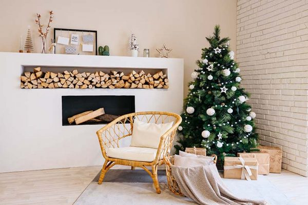 arvore de natal, decoração de natal escandinava