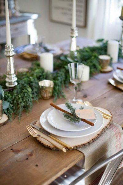 mesa de natal, decoração de natal rustica