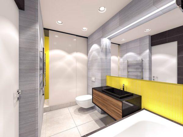 casa de banho amarela, cores pantone 2021