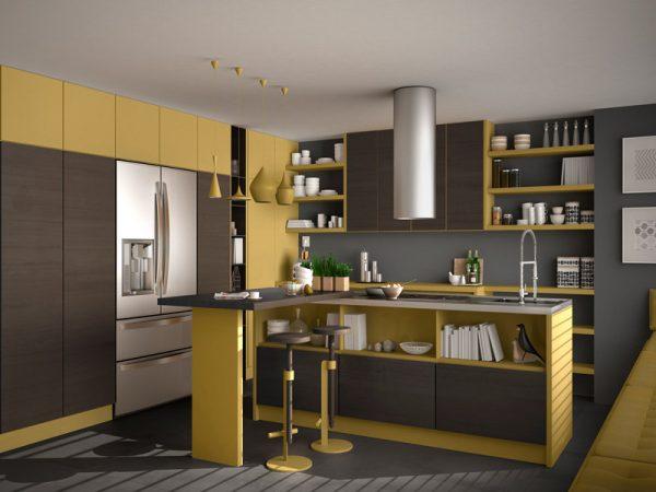cozinha amarela, cores pantone 2021