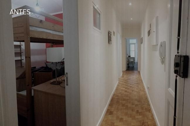 interior depois da remodelação de apartamento | Urban Obras | Empresa de remodelações