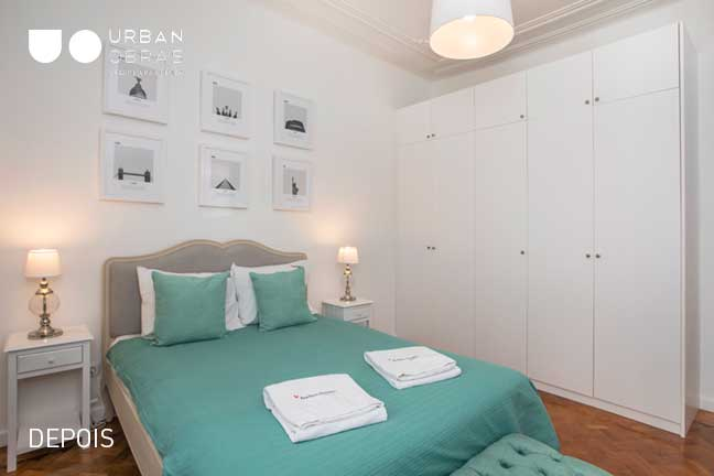 quarto depois da remodelação de apartamento | Urban Obras | Empresa de remodelações