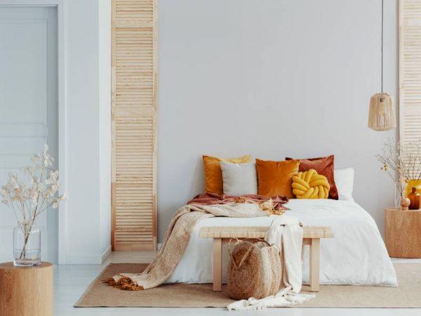 decoração de quarto minimalista, cor