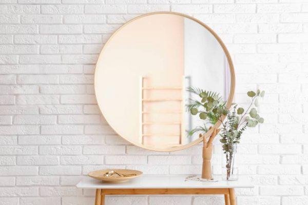 espelhos, decoração de hall de entrada