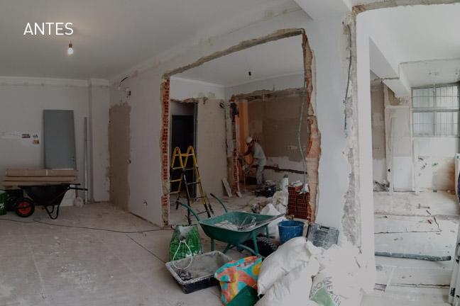 cozinha e sala open space